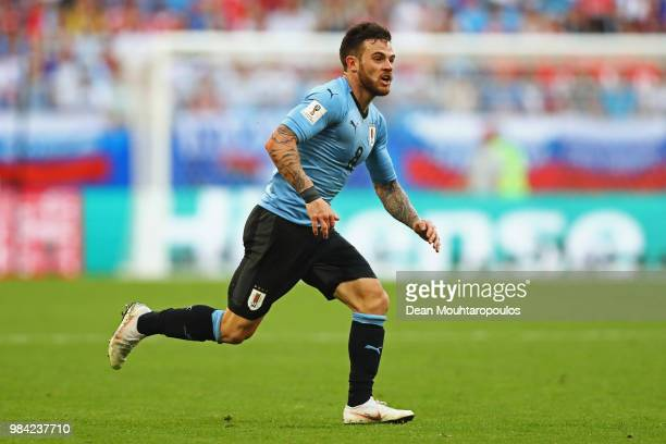 Nahitan Nandez of Uruguay in action during the 2018 FIFA World Cup Russia group A match between Uruguay and Russia at Samara Arena on June 25 2018 in...
