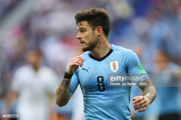 Nahitan Nandez of Uruguay in action during the 2018 FIFA World Cup Russia Quarter Final match between Uruguay and France at Nizhny Novgorod Stadium...