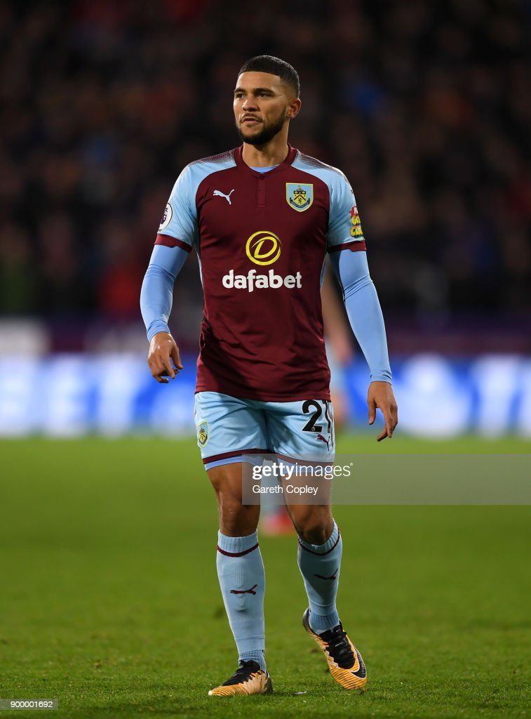 Nahki Wells of Burnley during the Premier League match between Huddersfield Town and Burnley at John Smith's Stadium on December 30, 2017 in Huddersfield, England.
