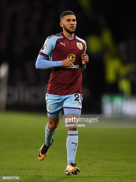 Nahki Wells of Burnley during the Premier League match between Huddersfield Town and Burnley at John Smith's Stadium on December 30 2017 in...