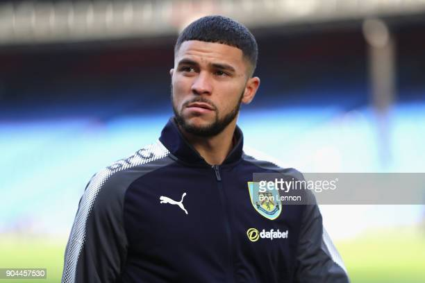 Nahki Wells of Burnley takes a look around the pitch prior to the Premier League match between Crystal Palace and Burnley at Selhurst Park on January...