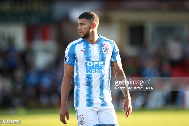 Nahki Wells of Huddersfield Town during the preseason friendly match between Accrington Stanley and Huddersfield Town at Wham Stadium on July 12 2017...