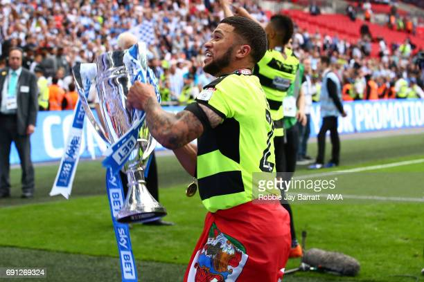Nahki Wells of Huddersfield Town during the Sky Bet Championship Play Off Final match between Reading and Huddersfield Town at Wembley Stadium on May...