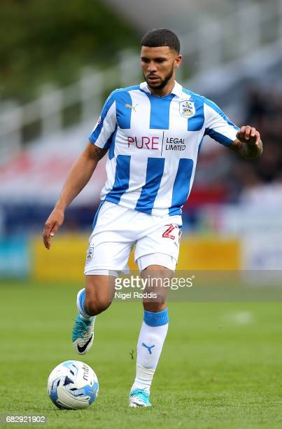 Nahki Wells of Huddersfield Town in action during the Sky Bet Championship Play Off Semi Final 1st leg match between Huddersfield Town and Sheffield...