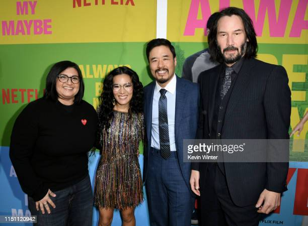 Nahnatchka Khan Ali Wong Randall Park and Keanu Reeves arrive at the premiere of Netflix's Always Be My Maybe at the Regency Village Theatre on May...