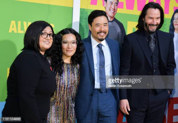 Nahnatchka Khan Ali Wong Randall Park and Keanu Reeves attend the premiere of Netflix's Always Be My Maybe at Regency Village Theatre on May 22 2019...