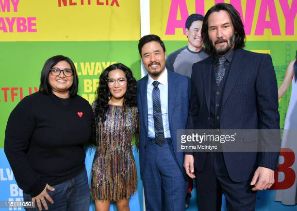 Nahnatchka Khan Ali Wong Randall Park and Keanu Reeves attend the world premiere of Netflix's 'Always Be My Maybe' at Regency Village Theatre on May...