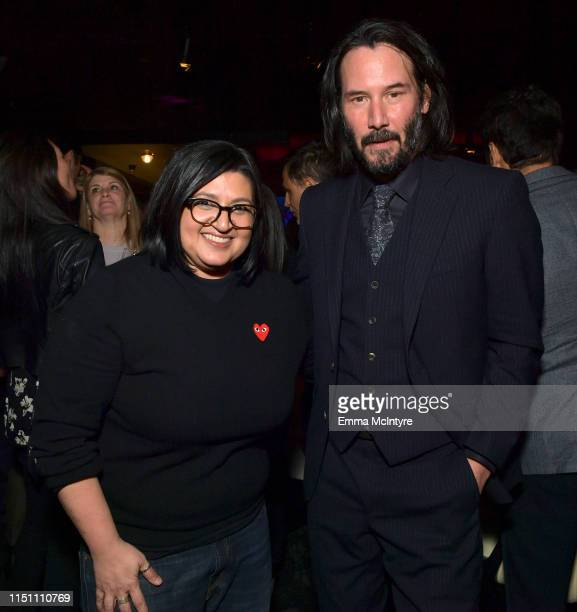 Nahnatchka Khan and Keanu Reeves attend the afterparty for the world premiere of Netflix's 'Always Be My Maybe' at STK on May 22 2019 in Westwood...
