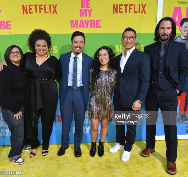 Nahnatchka Khan Michelle Buteau Randall Park Ali Wong Daniel Dae Kim and Keanu Reeves attend the world premiere of Netflix's 'Always Be My Maybe' at...
