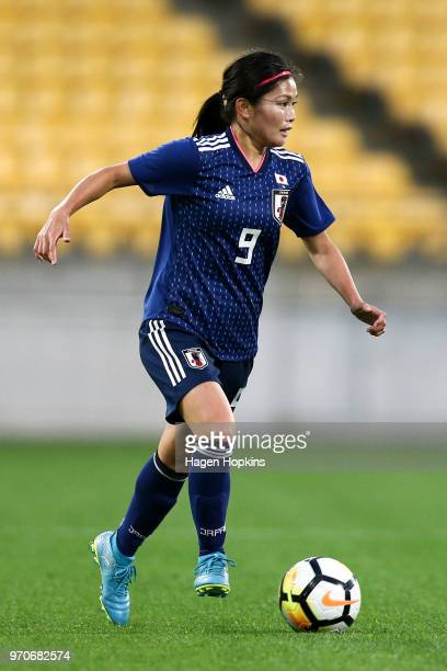Nahomi Kawasumi of Japan during the International Friendly match between the New Zealand Football Ferns and Japan at Westpac Stadium on June 10 2018...