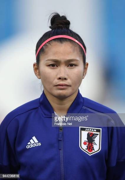 Nahomi Kawasumi of Japan looks on prior to the AFC Women's Asian Cup Group B match between South Korea and Japan at the Amman International Stadium...