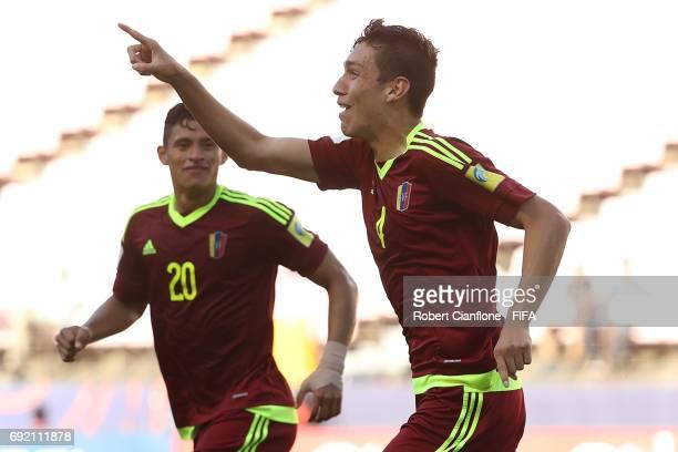 Nahuel Ferraresi of Venezuela celebrates after scoring a goal during the FIFA U20 World Cup Korea Republic 2017 Quarter Final match between Venezuela...