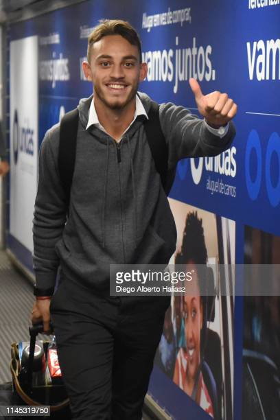 Nahuel Gallardo of River Plate arrives to Brazil May 20 2019 in Curitiba Brazil River Plate will face Atletico Paranaense as part of Recopa CONMEBOL...