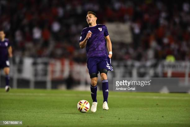 Nahuel Gallardo of River Plate during a match between River Plate and Gimnasia y Esgrima La Plata as part of Superliga 2018/19 at Estadio Monumental...