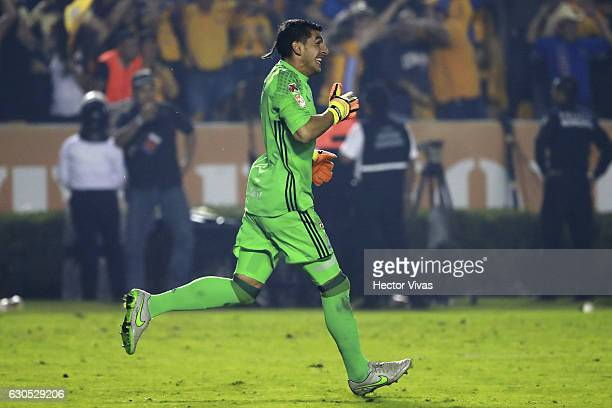 Nahuel Guzman goalkeeper of Tigres celebrates after winning the game during the Final second leg match between Tigres UANL and America as part of the...