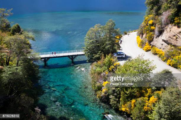nahuel huapi lake in northern patagonia - bariloche stock pictures, royalty-free photos & images