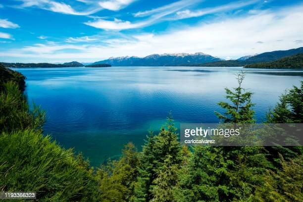 nahuel huapi lake - bariloche stock pictures, royalty-free photos & images