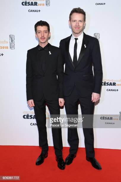 Nahuel Perez Biscayart and Antoine Reinartz arrive at the Cesar Film Awards 2018 at Salle Pleyel on March 2 2018 in Paris France