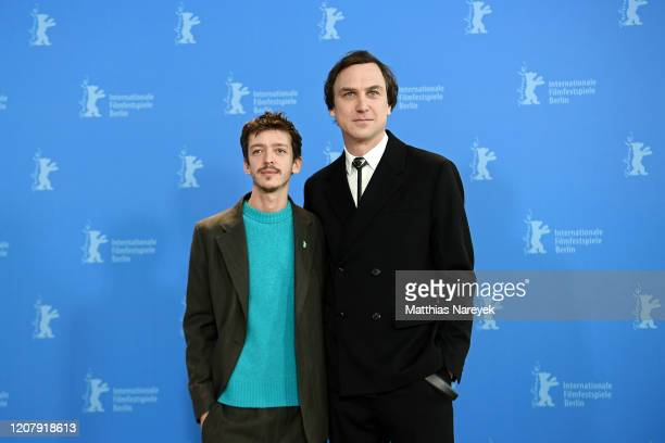 Nahuel Perez Biscayart and Lars Eidinger attend the Persian Lesson photo call during the 70th Berlinale International Film Festival Berlin at Grand...