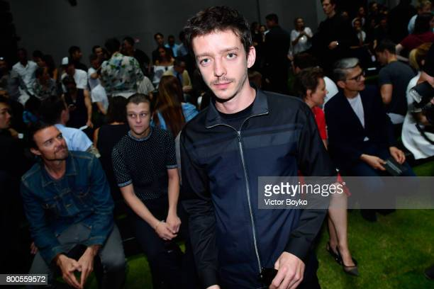 Nahuel Perez Biscayart attends the Dior Homme Menswear Spring/Summer 2018 show as part of Paris Fashion Week on June 24 2017 in Paris France
