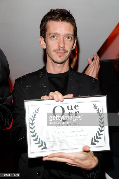 Nahuel Perez Biscayart is awarded Best Actor at the Queer Palm Ceremony during the 70th annual Cannes Film Festival at on May 27 2017 in Cannes France