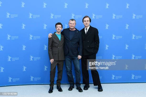 Nahuel Perez Biscayart Vadim Perelman and Lars Eidinger the Persian Lesson photo call during the 70th Berlinale International Film Festival Berlin at...