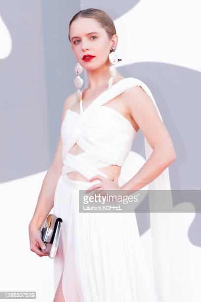 Naian Gonzalez Norvind walks the red carpet ahead of closing ceremony at the 77th Venice Film Festival on September 12, 2020 in Venice, Italy.