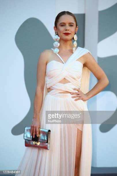 Naian González Norvind walks the red carpet ahead of closing ceremony at the 77th Venice Film Festival on September 12, 2020 in Venice, Italy.