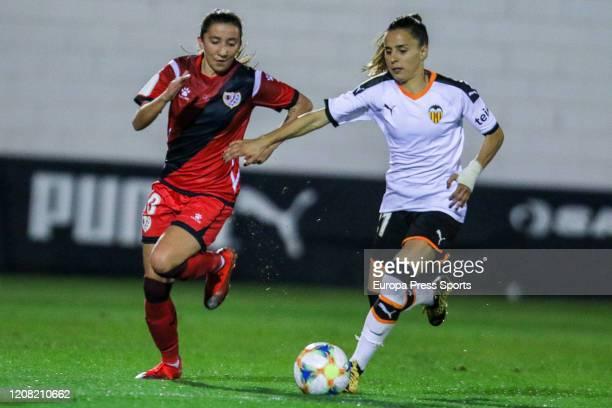 Naiara Beristain of Valencia CF in action during the Spanish League Primera Iberdrola women football match played between Valencia CF Femenino and...