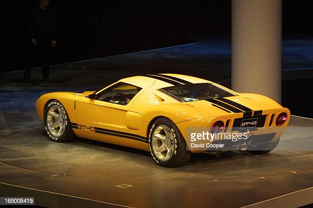 Rear view Ford GT40 which William Clay Ford Jr introduced at the North American International Auto Show which opened to the media today in Detroit