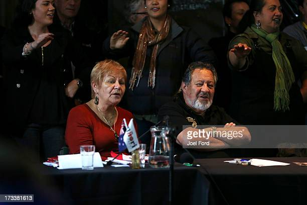 Naida Glavish and Pita Sharples attend the Maori Party Annual General Meeting on July 13 2013 in Whakatane New Zealand Flavell replaced Dr Pita...