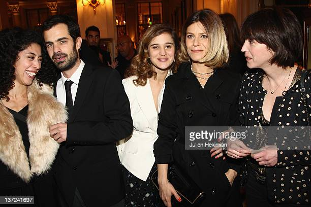 Naidra Ayadi Alexandre Steiger Marie Denarnaud Marina Fois and guest attend the Chaumet's Cocktail Party for Cesar's Revelations 2012 on January 16...