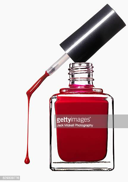 Nail polish dripping from brush