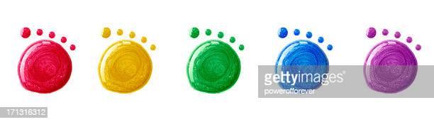 Nagellack Footprints