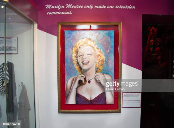 Nail Polish Portrait of Marilyn Monroe at the Unveiling of Marilyn Monroe's Iconic 1962 'Happy Birthday Mr President' Dress at Ripley's Believe It Or...