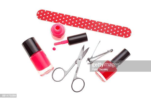 Nail varnish and manicure set
