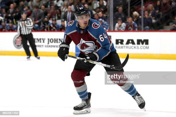 Nail Yakupov of the Colorado Avalanche plays the Boston Bruins at the Pepsi Center on October 11 2017 in Denver Colorado