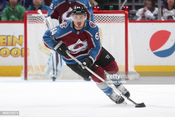 Nail Yakupov of the Colorado Avalanche skates against the New York Rangers at the Pepsi Center on January 20 2018 in Denver Colorado The Avalanche...