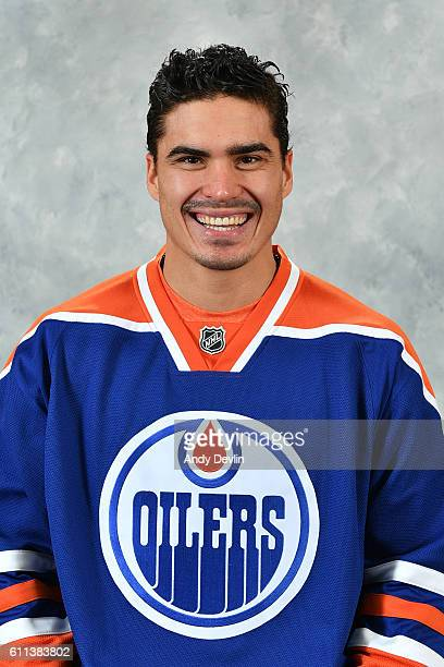 Nail Yakupov of the Edmonton Oilers poses for his official headshot for the 20162017 season on September 22 2016 at the Rogers Place in Edmonton...