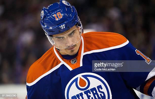 Nail Yakupov of the Edmonton Oilers skates against the Ottawa Senators on February 23 2016 at Rexall Place in Edmonton Alberta Canada