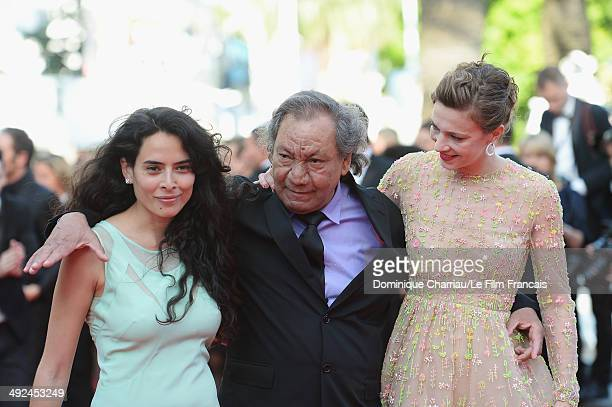 Nailia Harzoune Tony Gatlif and Celine Sallette attend the Geronimo Premiere during the 67th Annual Cannes Film Festival on May 20 2014 in Cannes...