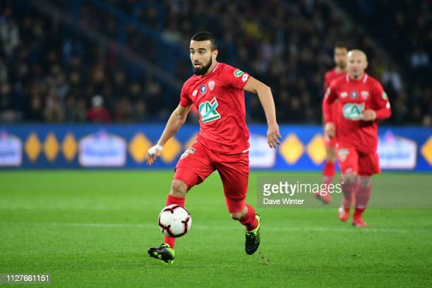 Naim Sliti of Dijon during the French Cup match between Paris Saint Germain and Dijon at Parc des Princes on February 26 2019 in Paris France