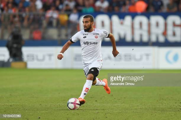 Naim Sliti of Dijon during the French Ligue 1 match between Montpellier and Dijon at Stade de la Mosson on August 11 2018 in Montpellier France