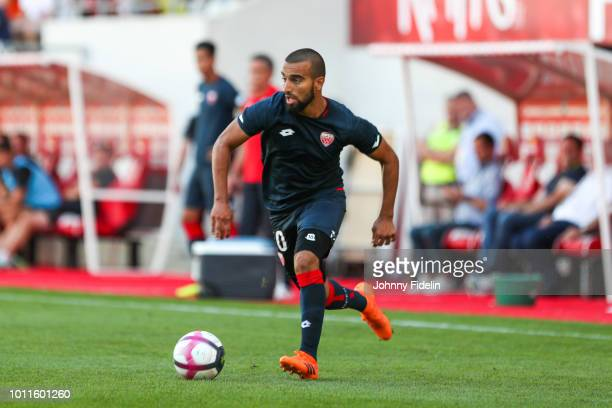 Naim Sliti of Dijon during the friendly match between Reims and Dijon at Stade Auguste Delaune on August 4 2018 in Reims France