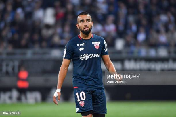 Naim Sliti of Dijon during the Ligue 1 match between Amiens and Dijon at Stade de la Licorne on October 6 2018 in Amiens France