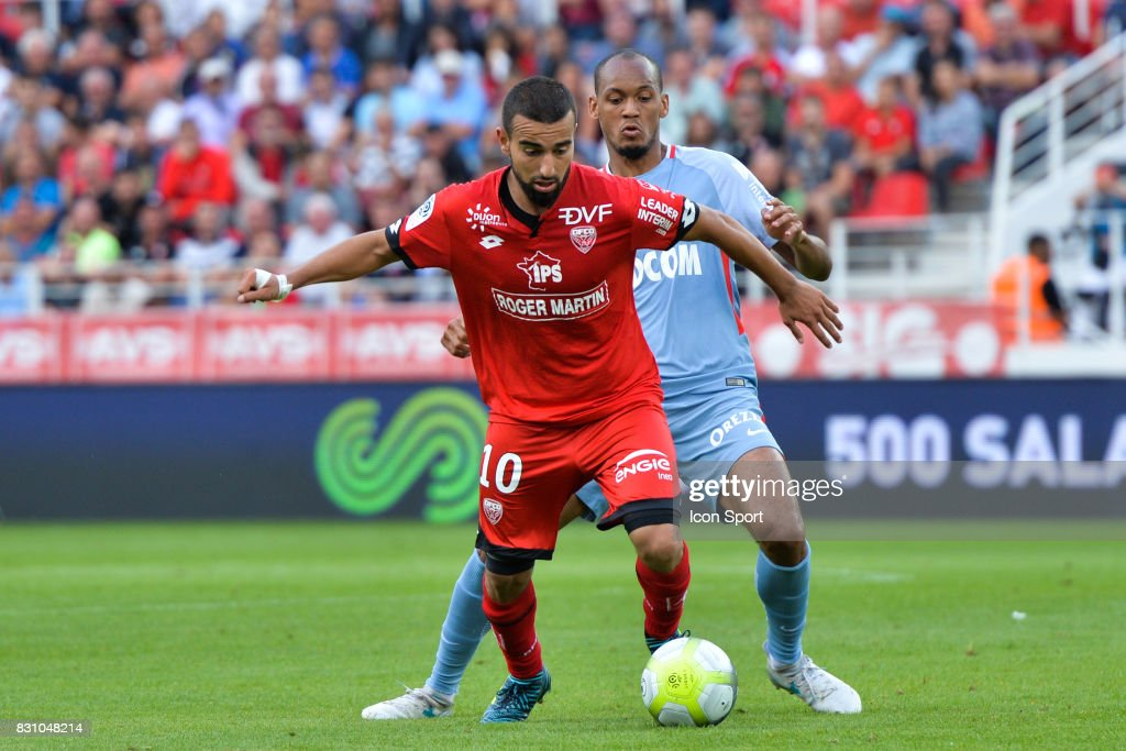 Naim Sliti of Dijon during the Ligue 1 match between Dijon FCO and AS Monaco at Stade Gaston Gerard on August 13, 2017 in Dijon, .