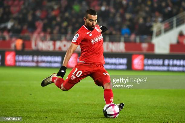 Naim Sliti of Dijon during the Ligue 1 match between Dijon FCO and EA Guingamp on December 5 2018 in Dijon France