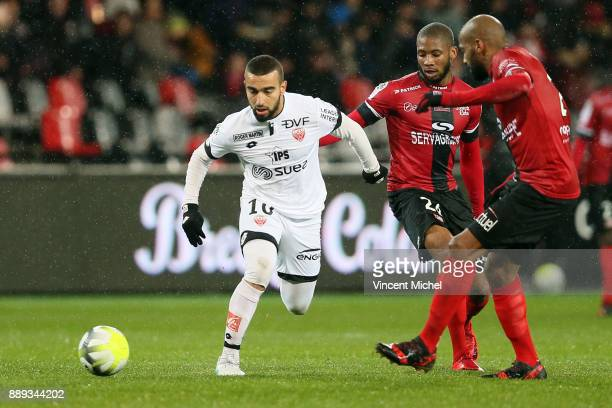 Naim Sliti of Dijon during the Ligue 1 match between EA Guingamp and Dijon FCO at Stade du Roudourou on December 9 2017 in Guingamp