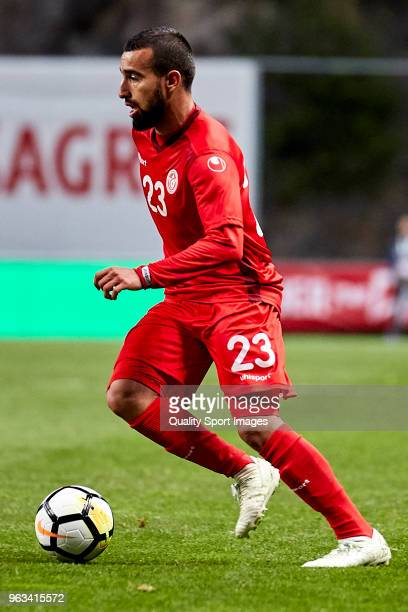Naim Sliti of Tunisia in action during the friendly match of preparation for FIFA 2018 World Cup between Portugal and Tunisia at the Estadio AXA on...