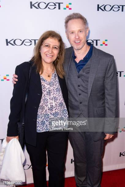 Naima Greffon and Raphael Sbarge attend the premiere screening event for KCET's upcoming regional historical documentary LA Foodways at Ahrya Fine...